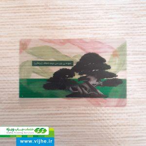 چاپ آنلاین کارت ویزیت (PVC) برفکی نیمه شفاف