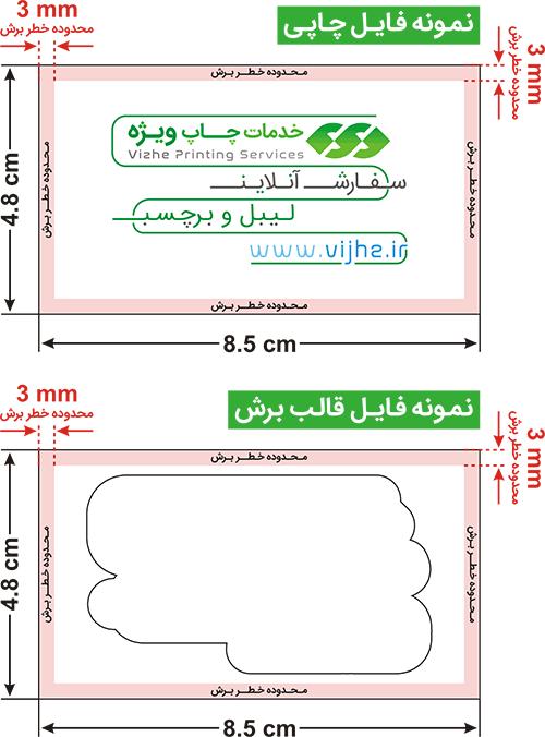 راهنمای طراحی لیبل یووی قالبدار برش دلخواه _ چاپ ویژه