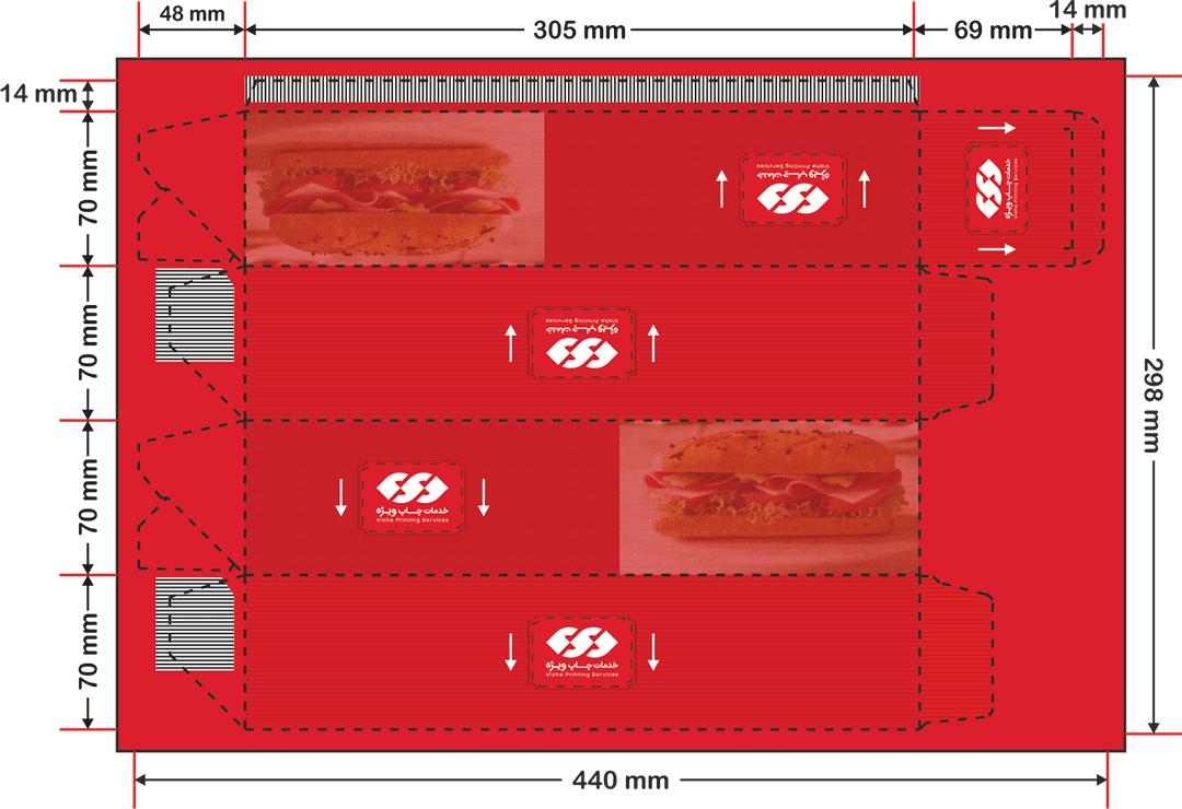 نحوه صحیح طراحی جعبه ساندویچ لاک باتم_ چاپ ویژه