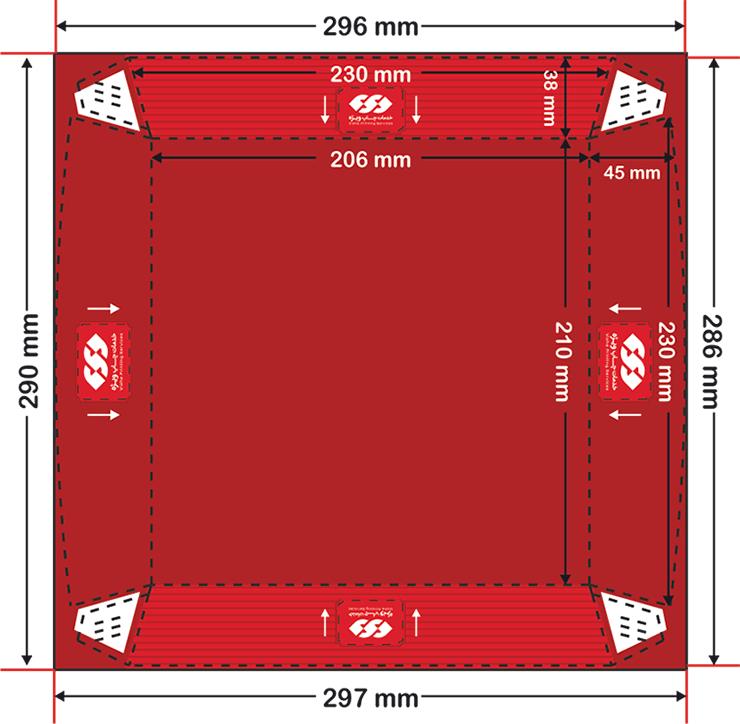 نحوه صحیح طراحی ظرف سوخاری داخل سالن مربع بزرگ چاپ ویژه