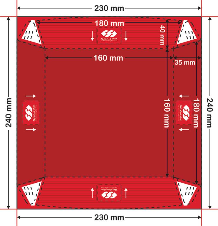 نحوه صحیح طراحی ظرف سوخاری داخل سالن مربع کوچک چاپ ویژه