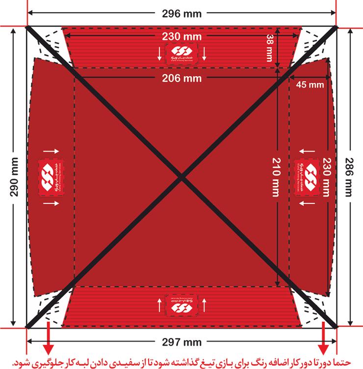 نحوه نادرست طراحی ظرف سوخاری داخل سالن مربع بزرگ چاپ ویژه