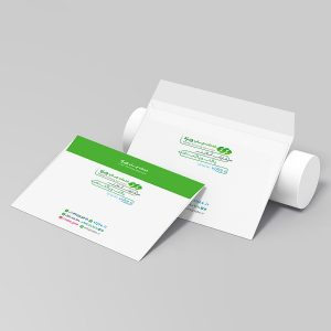 چاپ آنلاین پاکت A5 گلاسه 135 گرم افقی چاپ ویژه