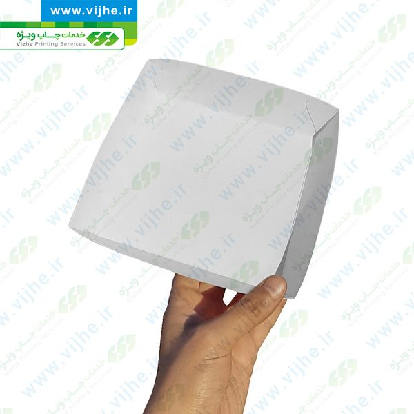 چاپ آنلاین ظرف سوخاری داخل سالن مربع کوچک _ چاپ ویژه